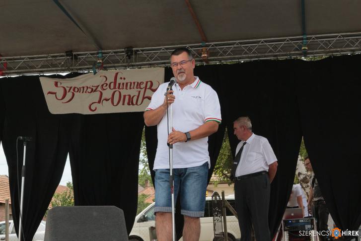 Nyíri Tibor az ondi falunapon, 2018. június 17-én