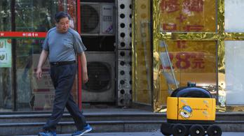 Robotpostás viszi az ennivalót Pekingben