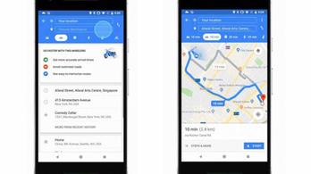 A Google Maps is elkezdi a motoros módot