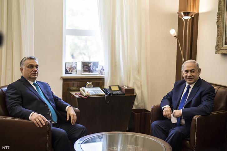 Orbán Viktor és Benjámin Netanjahu négyszemközti megbeszélést folytat Jeruzsálemben 2018. július 19-én.