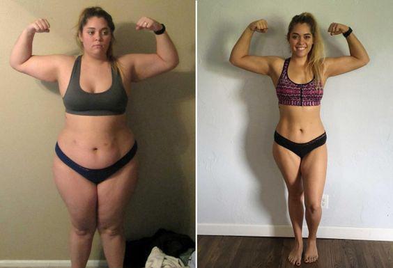 met fogyás előtt és után