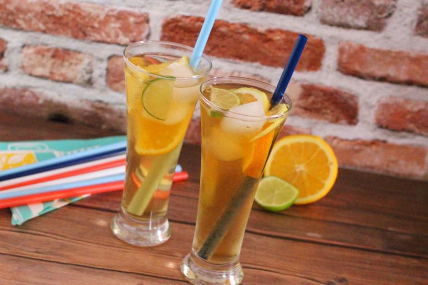 Hűsítő zöld tea cider. Egész nyáron ezt fogod kortyolgatni
