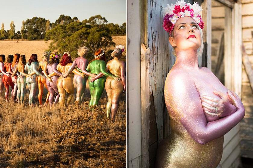 Csillámba mártották meztelen testüket, hogy megmutassák, milyen a valódi nő - Sokaknak nehéz volt, mégis bevállalták