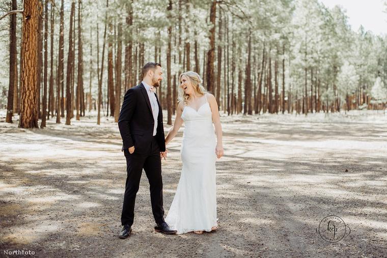 Reméljük, nem rágta le a tíz körmét, mert annyira aggódott, hogy az igazi menyasszony is megjelent-e