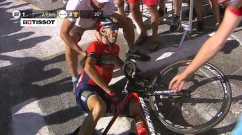 Rendőrmotoros miatt bukott, csigolyáját törte a Tour-negyedik