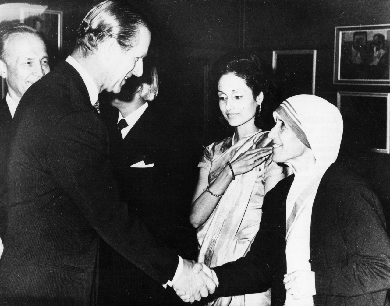 Fülöp herceg Teréz anyával 1973-ban.