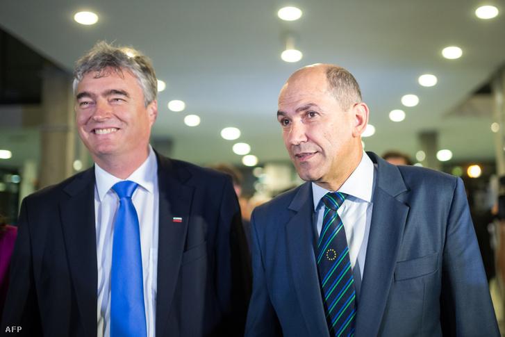 Milan Zver (balra) ésJanez Jansa