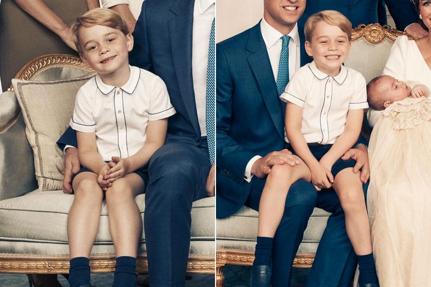 A legfrissebb fotók a kis hercegről: öccse keresztelőjén készültek róla ezek az édes képek.