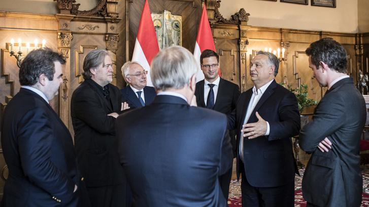 2018. május 24-én, csütörtökön Orbán Viktor miniszterelnök fogadta Douglas Murray brit konzervatív írót, szerkesztőt, Stephen K. Bannont, Donald Trump amerikai elnök volt kampányfõnökét és vezető stratégáját, valamint David P. Goldman amerikai közgazdászt az Országházban.