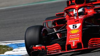 Esőkáosz és Vettel-kiesés után Hamiltoné a Német GP