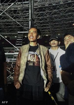 Joko Widodo egy Metallica koncerten 2013-ban