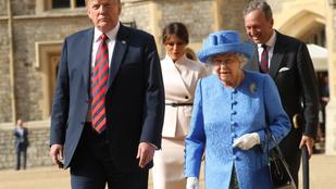 II. Erzsébet a brossával árulta el, mit gondol Donald Trumpról