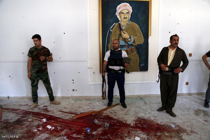 A kurd biztonsági erők csaknem négyórás tűzpárbajt követően az összes támadóval végeztek az erbíli kormányzói hivatalban