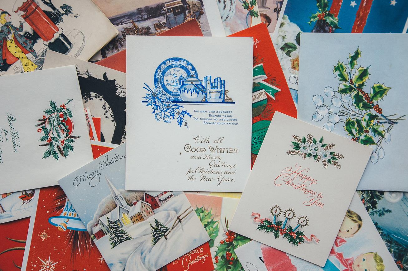 képeslapok karácsony vintage
