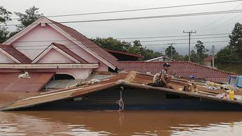 Több száz eltűntet keresnek, miután átszakadt egy vízerőmű gátja Laoszban