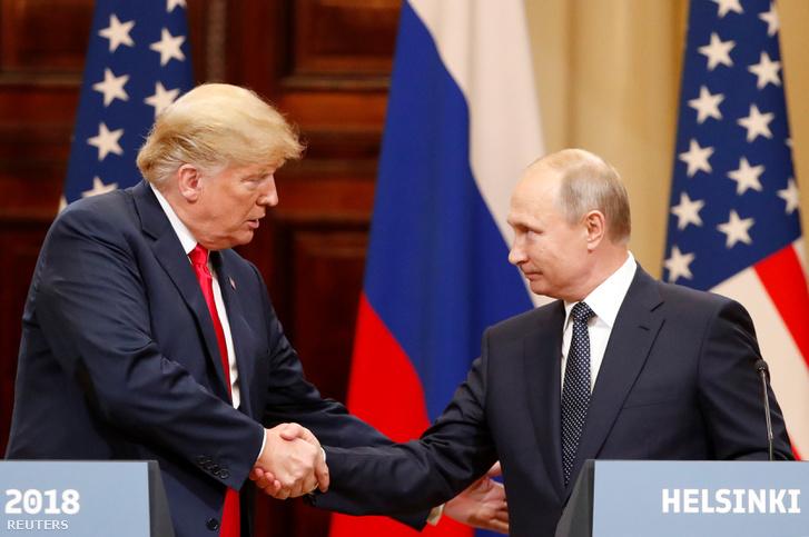 Donald Trump és Vlagyimir Putyin Helsinkiben