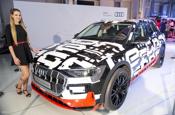 Egy Audi e-tron prototípusa