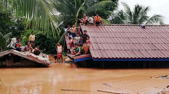 Laoszi gát: legalább húsz halott, küzdelem a túlélőkért