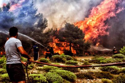 görögország-tűzvész