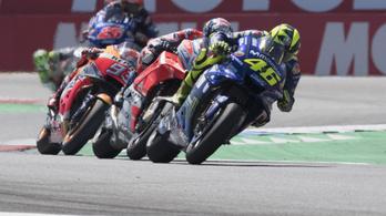 Valentino Rossi kedvenc pályaja felé kancsingat az F1