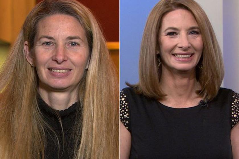 A rövid vagy félhosszú haj gyakran hozzájárul ahhoz, hogy valaki tíz évet letagadhasson. Így volt ez ennél a nőnél is, akinek sokkal jobban áll a vállig érő, sötétebb frizura.