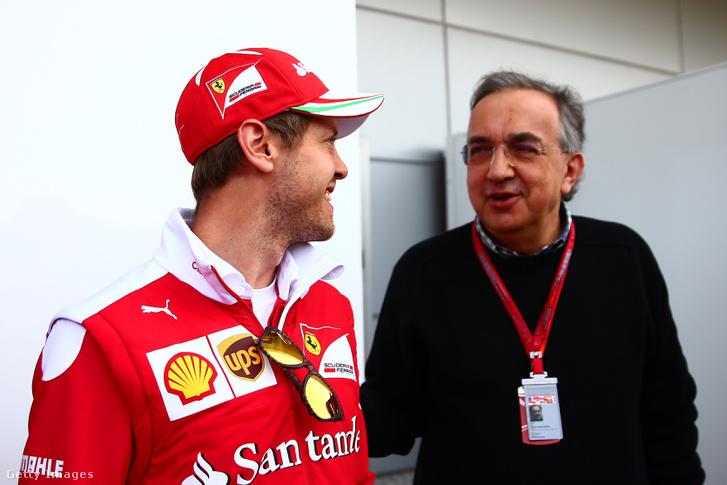Sergio Marchionne és Sebastian Vettel