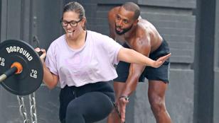 Ashley Graham a férjével edz, aki nagyon nem plus size