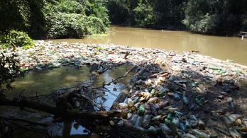 A Maros folyót is elérte a műanyag-apokalipszis