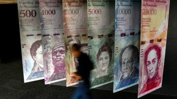 Venezuelában öt nullát vágnak le a helyi pénzből