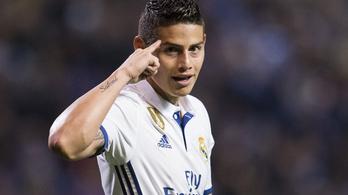 Adócsalás miatt 11,65 millió eurót fizethet James Rodríguez