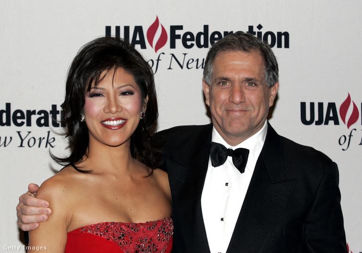 Leslie Moonves és felesége, Julie Chen, 2006-ban