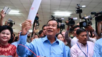 Gyanúsan túlnyerte magát a kambodzsai kormánypárt