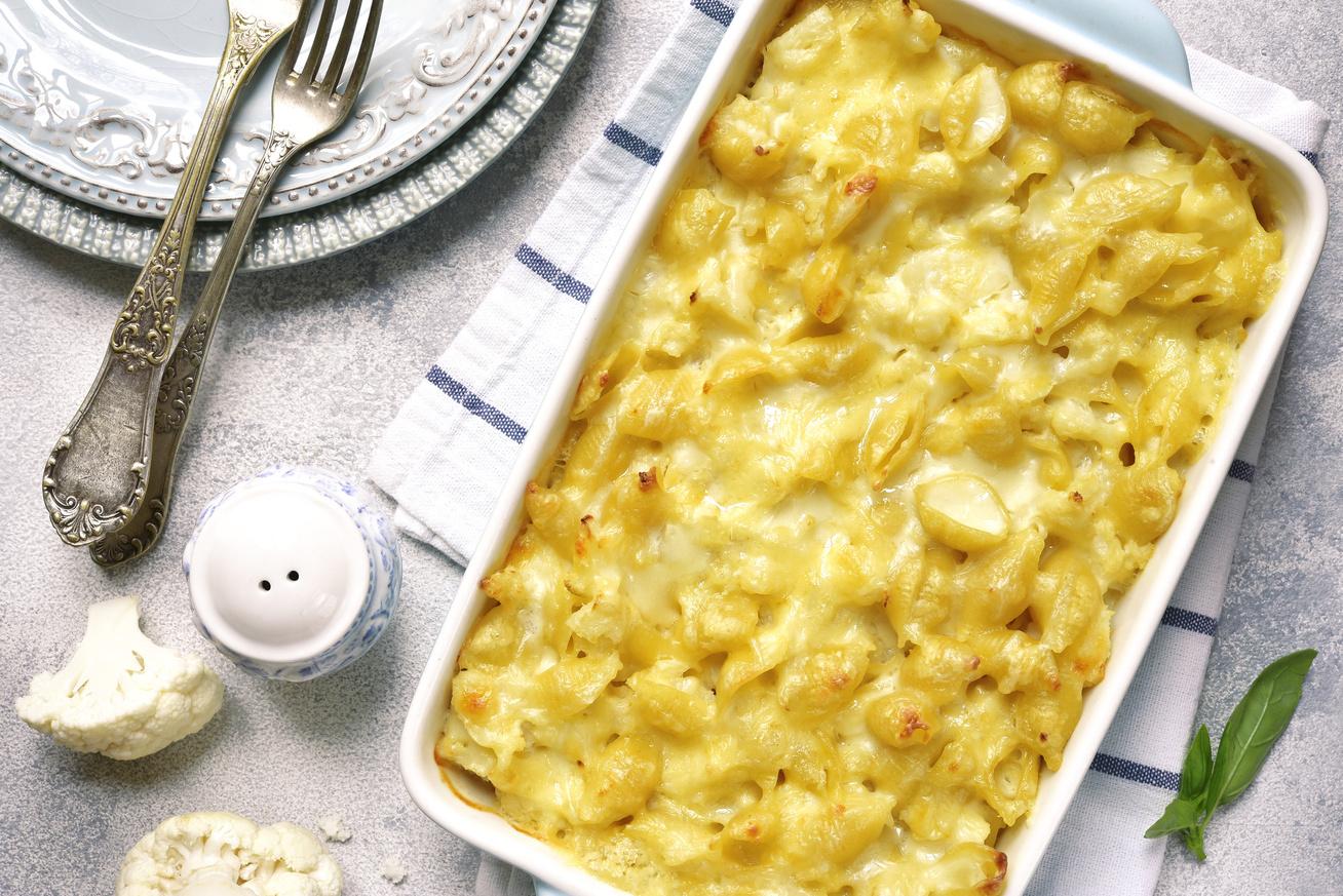 Karfiolos tészta sajtszószban sütve: fantasztikus rakottas a sütőből