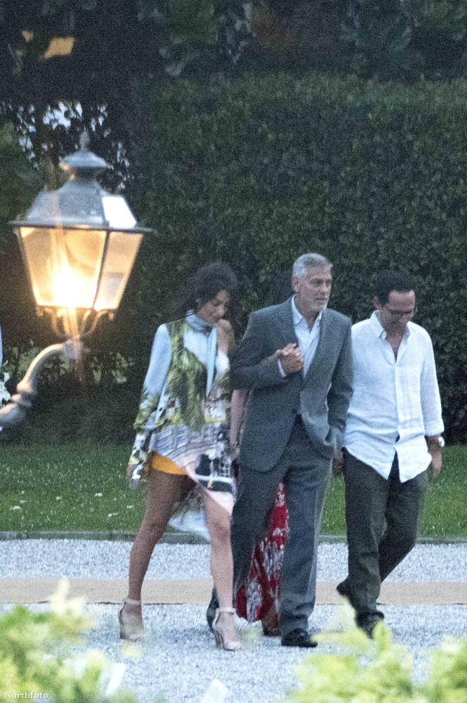 A párt egyébként nem véletlenül látták Comói-tónál