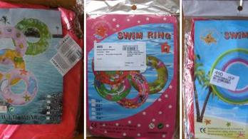 Úszógumikat és műanyag babákat vont ki a forgalomból a fogyasztóvédelem