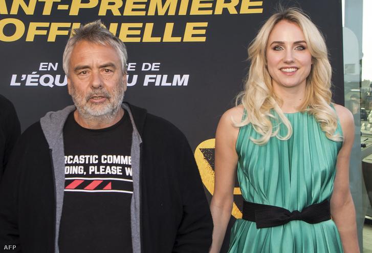 Luc Besson és Sand Van Roy a Taxi 5 című film díszbemutatóján