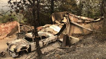 Már legalább nyolc áldozata van a kaliforniai erdőtüzeknek