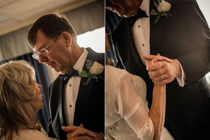 - 2018. július 3-án, negyven évvel a házasságkötésük után édesanyám megkapta az esküvőt, amiről mindig álmodott.