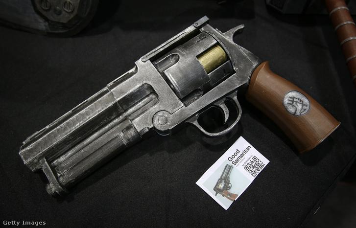 Egy 3D-s nyomtatóval készült pisztoly egy New York-i bemutatón 2015 áprilisában