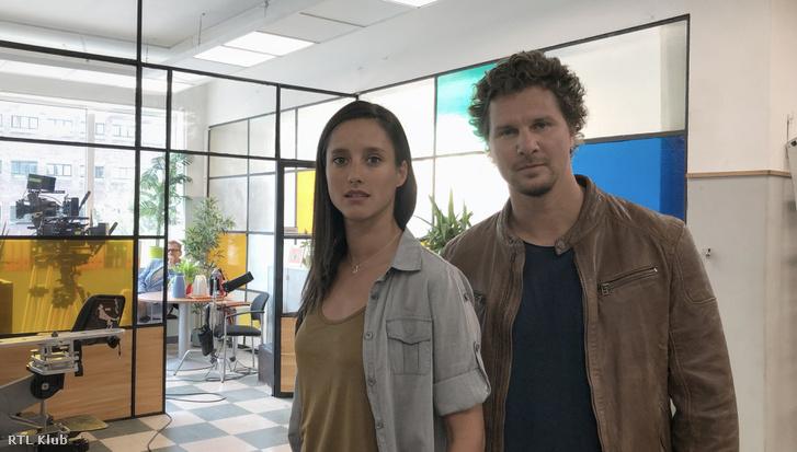 Nagy Ervin az új női főszereplővel, Trokán Nórával