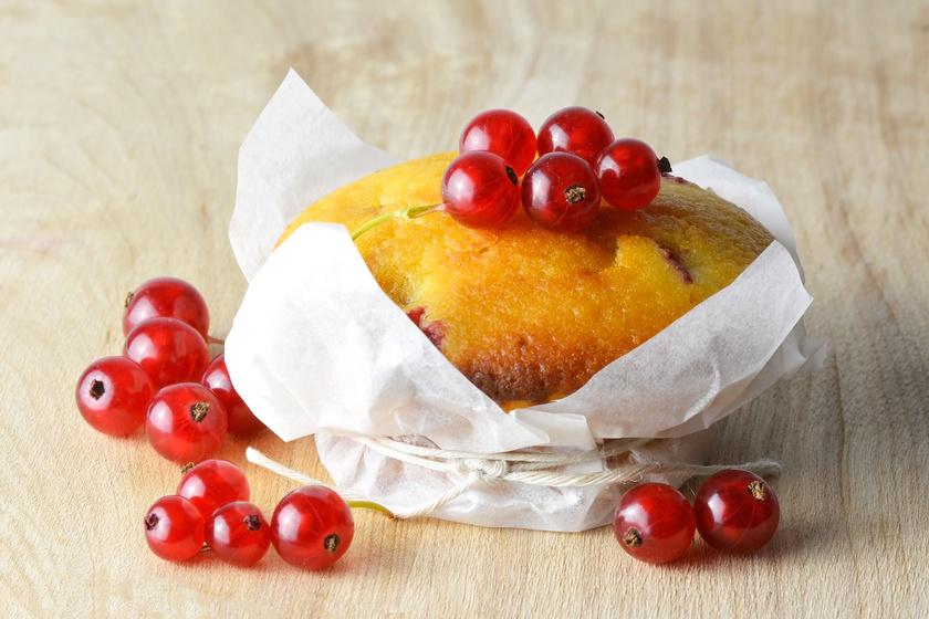 30 perces, gluténmentes muffin ribizlivel: senki nem veszi észre, hogy nem sima lisztből készül