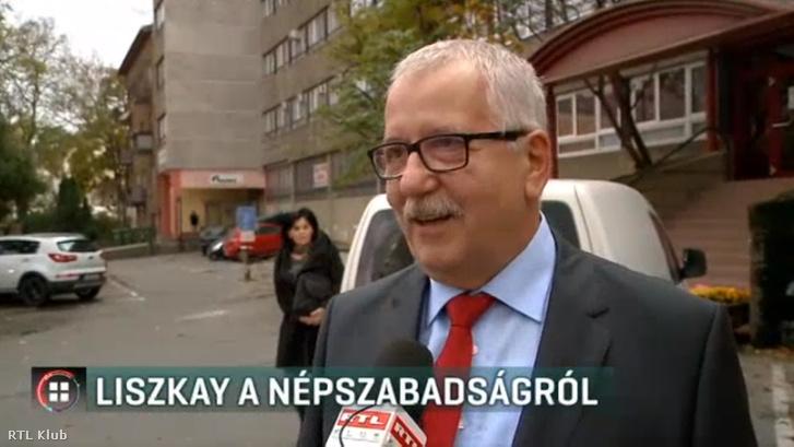 Liszkay Gábor nyilatkozik az RTL Klubnak