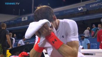 Percekig sírt Andy Murray a győzelme után