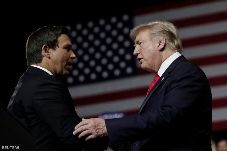 Ron DeSantis és Donald Trump