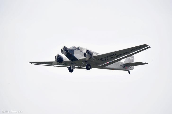 Egy Ju-52-es gép, ehhez hasonló zuhant le