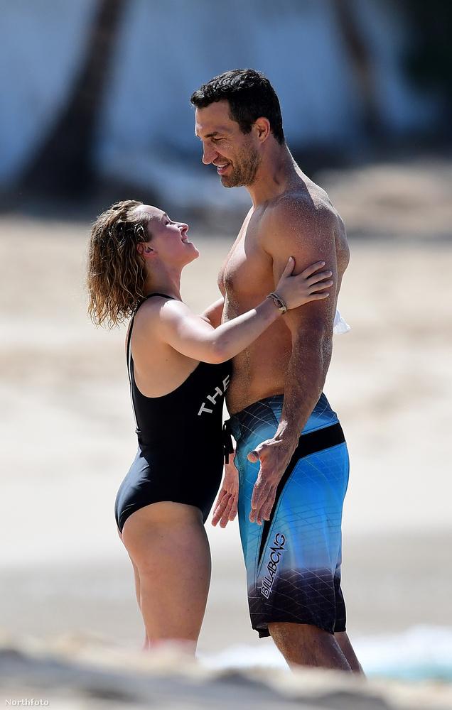 Ez a kép Hayden Panettiere színésznőről és Vlagyimir Klicsko bokszolóról készült 2018