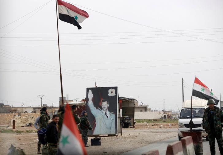 Ellenőrzőpont Aleppóban