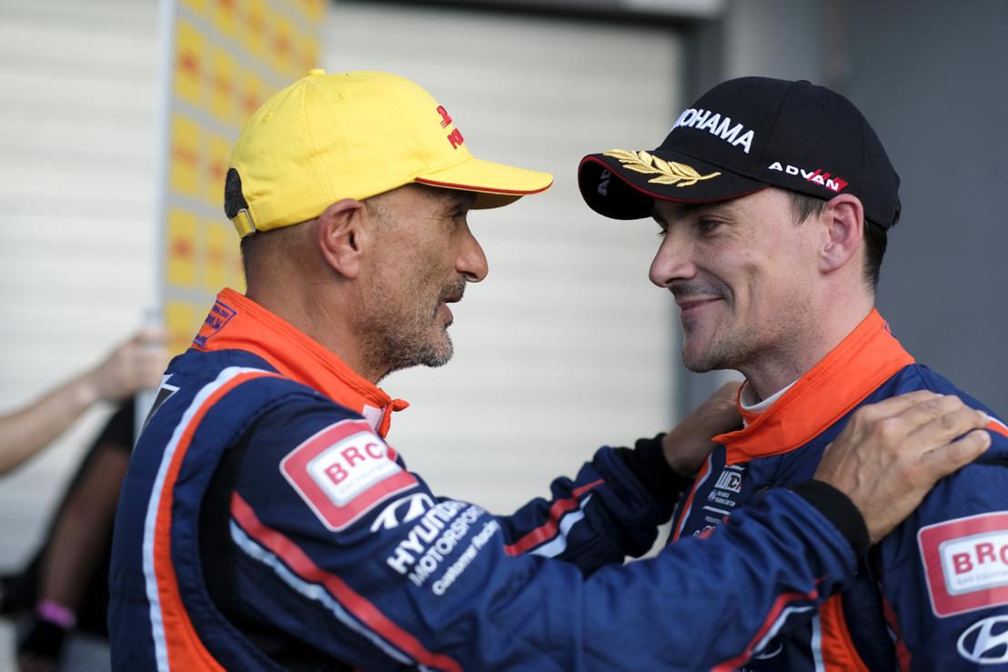 Gabriele Tarquini és csapattársa, Michelisz Norbert