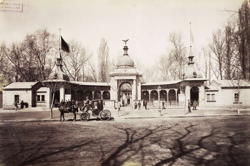 Az állatkert az 1890-es években.