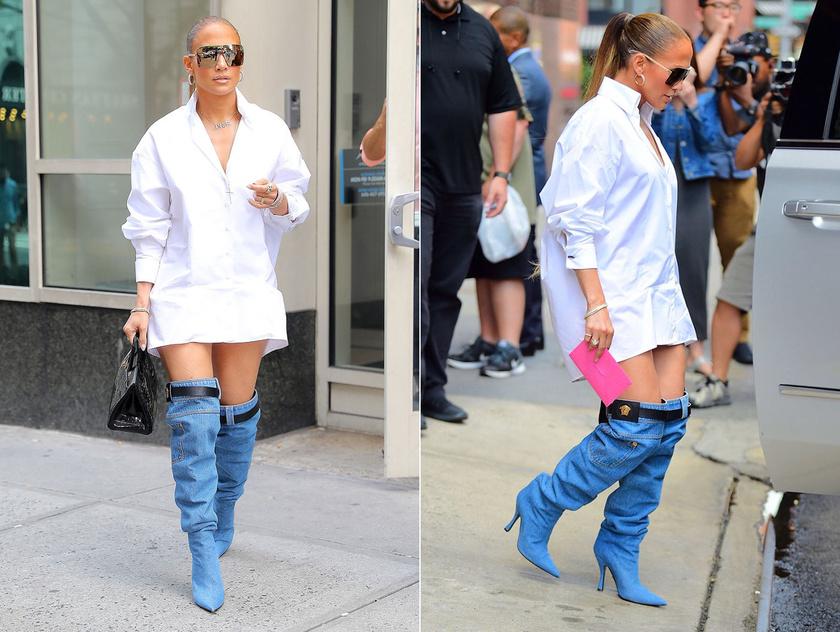 Jennifer Lopezt ebben a szerelésben fotózták le. Senan Byrne készített is magáról pár képet, melyeken kifigurázza a ruhát, de akkor benyitott a barátnője...